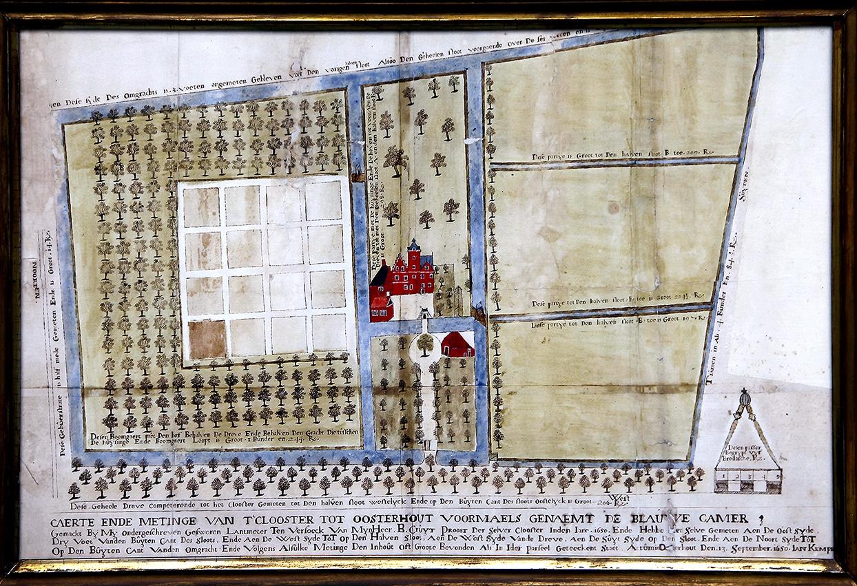 Kaart van het kasteeltje in Oosterhout