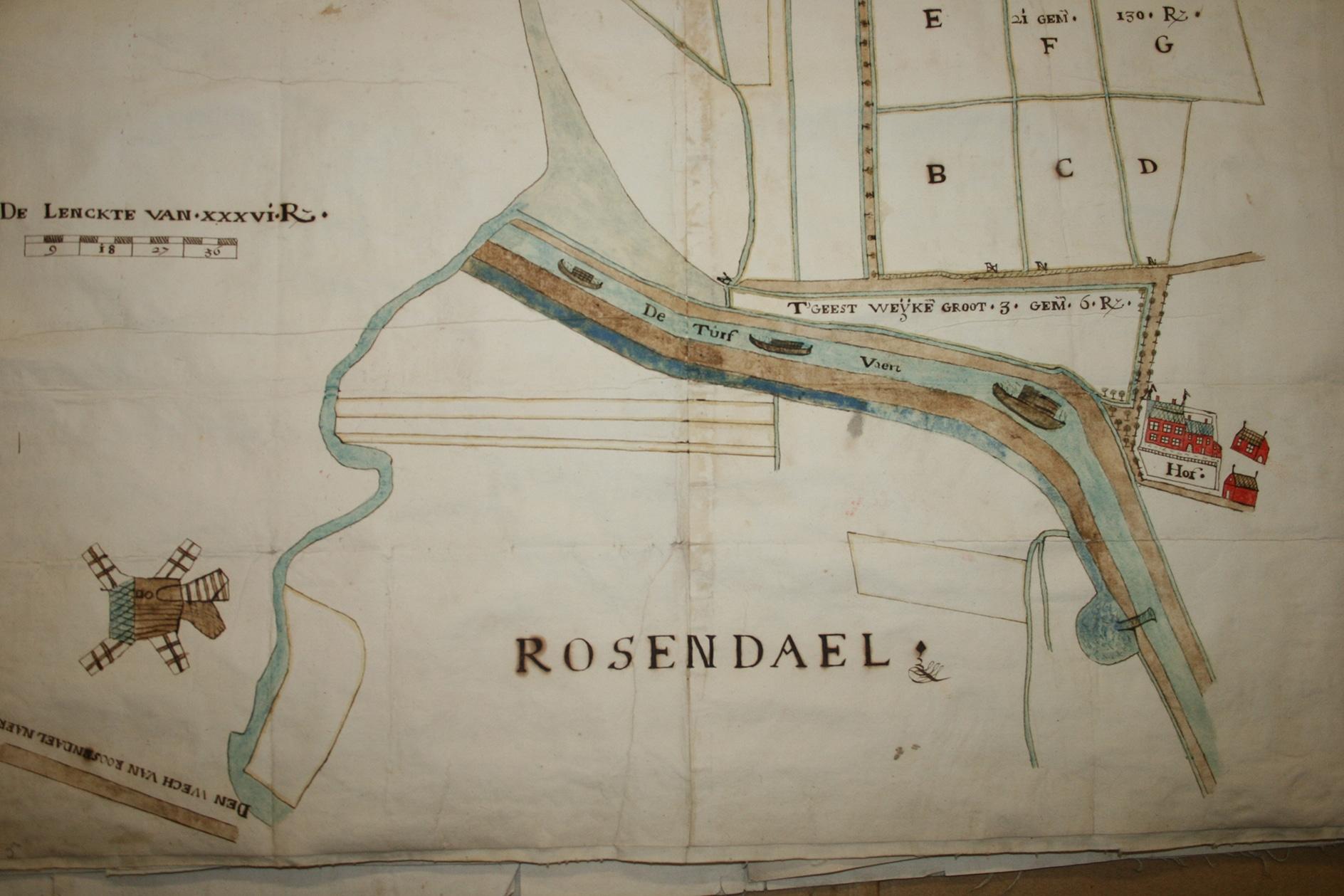 Omgeving Roosendaal, turfvaart